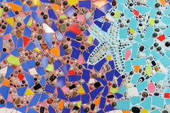 Mosaïque en verre colorée art. de fond de mur. Image stock