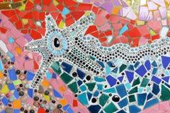 Mosaïque en verre colorée art. de fond de mur. Images stock