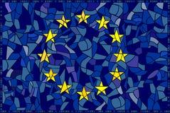Mosaïque en verre d'UE Image stock