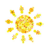Mosaïque florale du soleil illustration stock