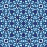 Mosaïque islamique géométrique sans couture abstraite Images stock