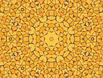 Mosaïque jaune Photographie stock