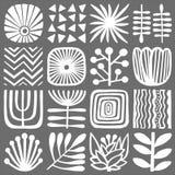 Mosaïque monochrome décorative d'ornement Modèle de symbole de vecteur illustration stock