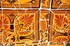 Mosaïque orange et noire Photos libres de droits