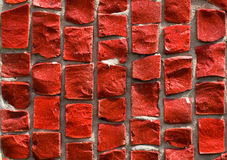 Mosaïque rouge Photos stock