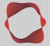 Mosaïque rouge de moebius Image libre de droits