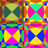 Mosaïque sans couture colorée Images stock
