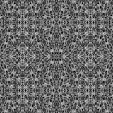 Mosaïque sans couture complexe noire et blanche images stock