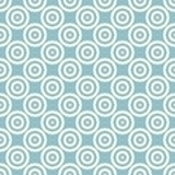 Mosaïque sans couture de fond abstrait des cercles concentriques dans la disposition diagonale sur le fond de bleu marine Rétro c Photo libre de droits