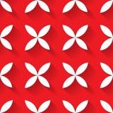 Mosaïque sans couture de modèle de vecteur abstrait des fleurs de feuille du blanc quatre dans la disposition diagonale sur le fo illustration libre de droits