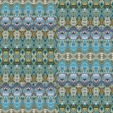 Mosaïque sans couture fleurie de luxe colorée de modèle illustration de vecteur