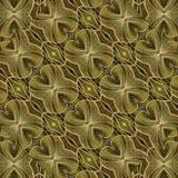 Mosaïque sans couture fleurie géométrique de modèle de Brown illustration stock