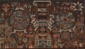 Mosaïque sur la bibliothèque de l'université nationale du Mexique photographie stock libre de droits