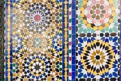 Mosaïque traditionnelle à Marrakech, Maroc Photographie stock
