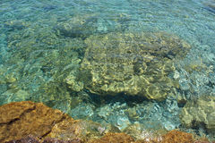 Mosaïques d'eau propre photographie stock