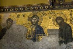 Mosaïques Hagia Sophia de Deësis Photos libres de droits