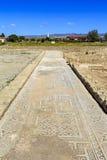 Mosaïques romaines et antiques antiques dans Paphos, Chypre Images stock