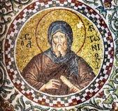 Mosaci av en bysantinsk munk arkivfoto