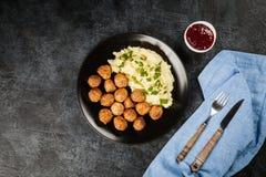 mosade meatballspotatisar Royaltyfria Bilder
