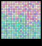 Mosaic. Bright mosaic made from small tiles stock illustration