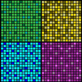 Mosaic. Pieces of a mosaic of different colors on a black background Stock Photography