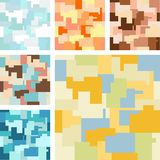 Mosaic. Abstract continuous pattern with six different color variations Stock Photo