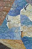 Mosaic. Representing seagull on the sea Stock Image
