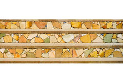 Mosaic. Three horizontal strips of a mosaic. On a white background Stock Photography
