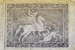 Mosaic. In the Hospital of the Knights of Rhodes stock photography