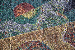 Mosaic. Fragment of a mosaic mural on the wall royalty free stock image