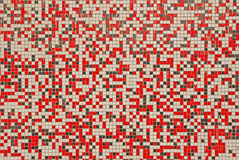 Mosaic. Made of red, black and white tiles Royalty Free Stock Photos