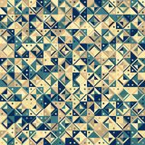 Mosaic. Seamless mosaic background geometric pattern, illustration Stock Illustration