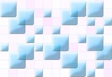 Mosaic. Colorful - blue, white - 3-d mosaic pattern Stock Images