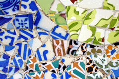 Mosaic. Of Gaudi in Parc Guell, Spain Royalty Free Stock Image