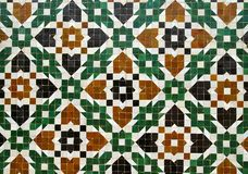 Mosaic. Detail of moroccan tiled wall Stock Image