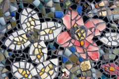 Mosaic. Close Up of Mosaic Tiles shaped in flowers Royalty Free Stock Photos