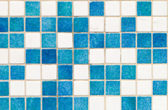 Mosaic. Blue mosaic on the pool floor stock images