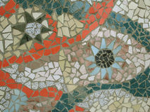 Mosaic. Hand made Mosaic from colorful tiles stock image