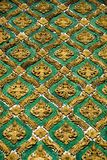Mosaic. Photo of a fragment of a roof from a mosaic, Bangkok, Thailand Royalty Free Stock Photography