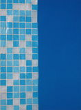 Mosaic. Tiles in a pool Royalty Free Stock Photos