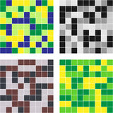 Mosaic. Consist of color squares. Vector illustration Stock Images