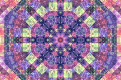 Mosaic abstract background with concentric pattern Royalty Free Stock Images
