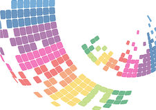 Mosaic abstract bright background Vector. Multicolor abstract background. Square pixel mosaic Stock Photo