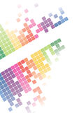 Mosaic abstract bright background Vector. Multicolor abstract background. Square pixel mosaic Royalty Free Stock Image