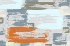 Mosaic abstract brush strokes art painting background in various colors.  stock illustration