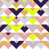 Mosaic abstract geometric swatch pattern vector seamless modern interior art background Stock Image