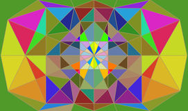 Mosaic Abstract Illustration. Colorful Illustration of Mosaic Abstract Royalty Free Stock Image