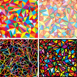 Mosaic Abstraction. Set of Mosaic backgrounds for your design Royalty Free Stock Photo