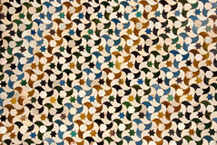 Mosaic at the Alhambra palace in Granada Royalty Free Stock Photo