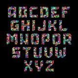 Mosaic alphabet royalty free illustration